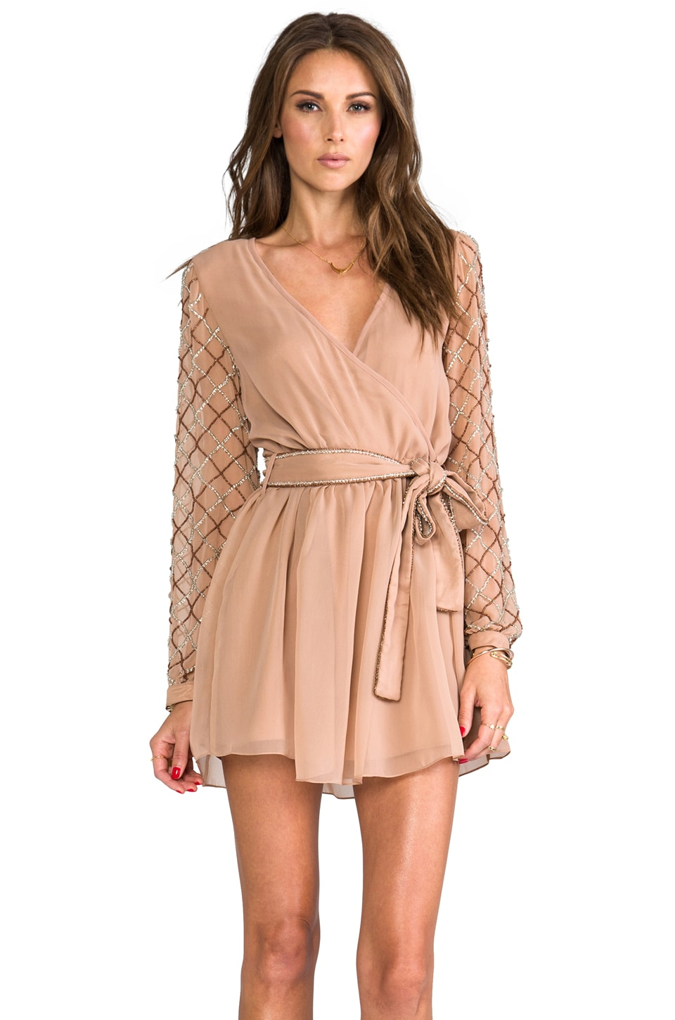 6 SHORE ROAD Gypsy Long Sleeve Dress in Earth