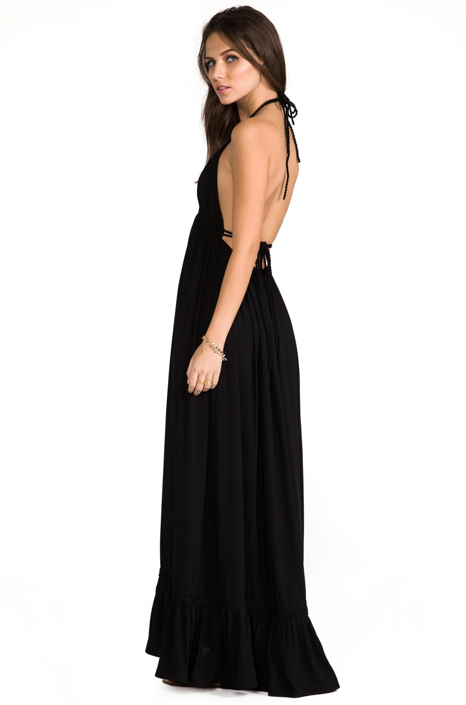 6 SHORE ROAD Williwood Maxi Dress in Black Rock