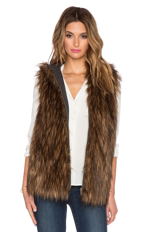 6 SHORE ROAD Hopi Reversible Faux Fur Vest in Fur