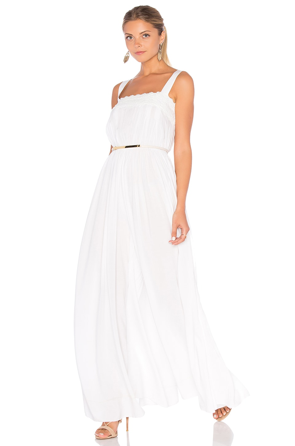 6 SHORE ROAD Loveboat Jumpsuit in Moonlight White