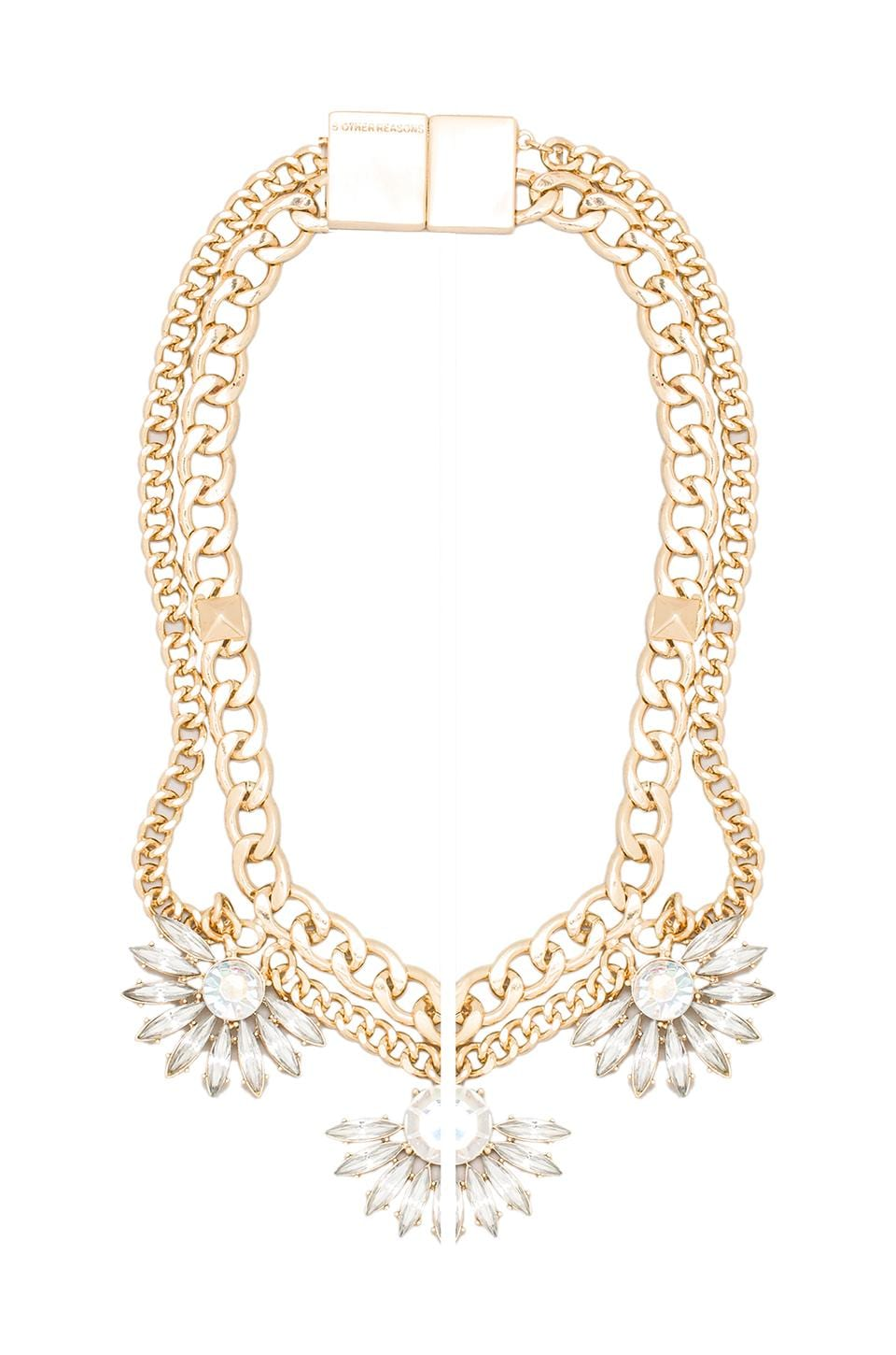 8 Other Reasons Anarchy Necklace in Gold/Crystal