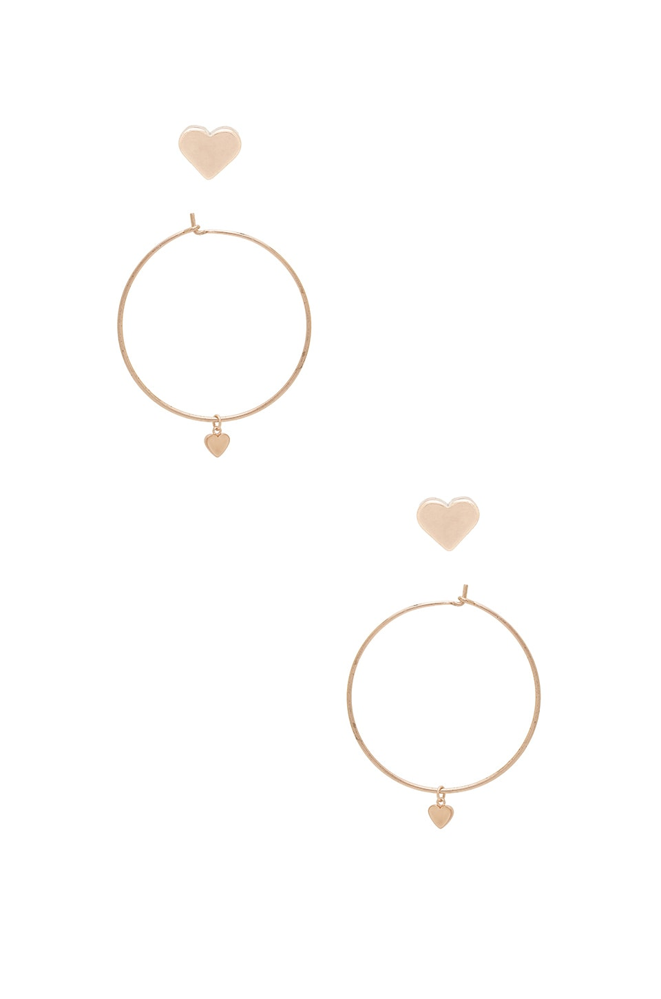 8 Other Reasons Cecil Heart Earring Set in Rose Gold