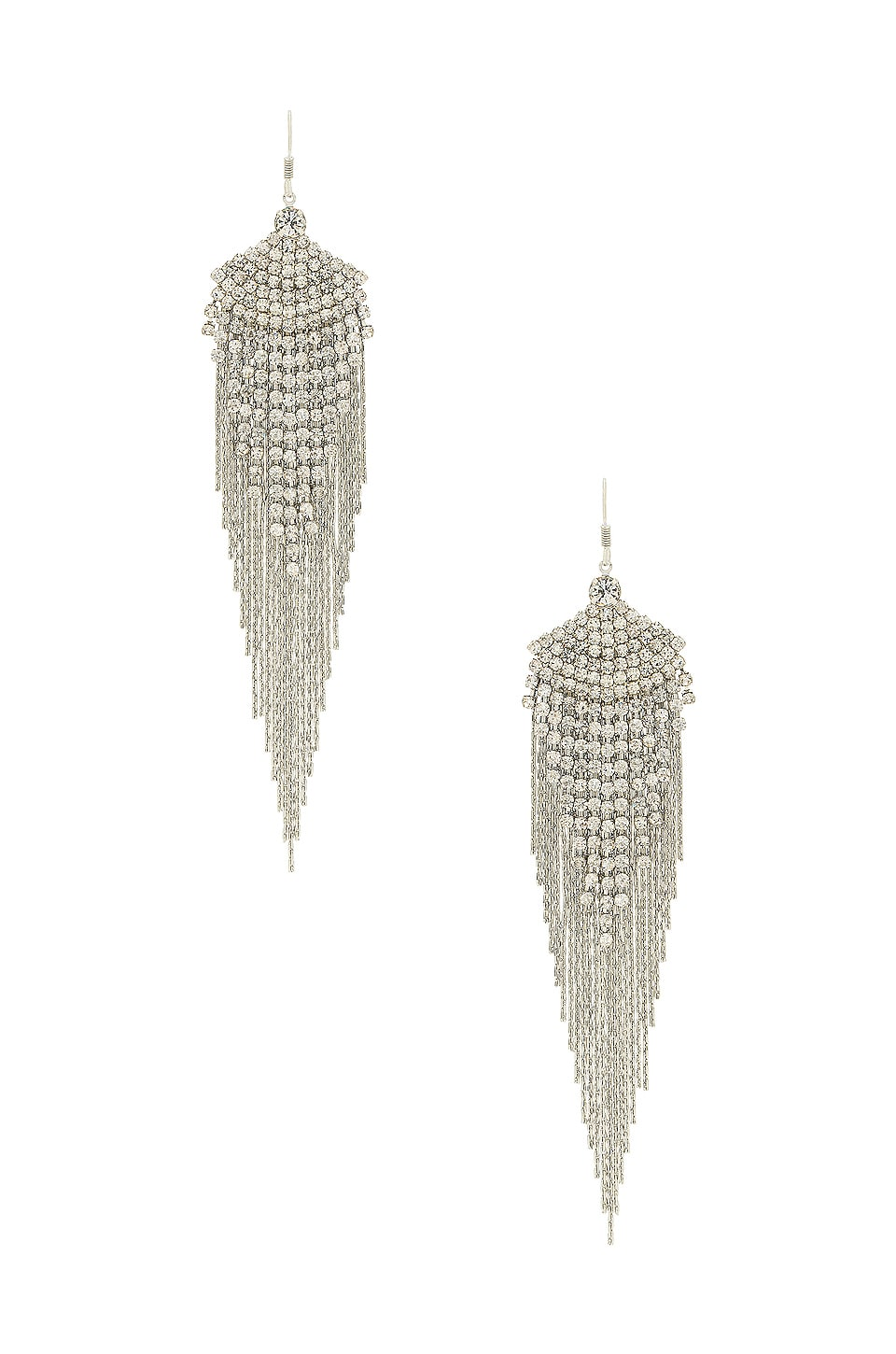 8 Other Reasons Feathered Gem Earring in Silver