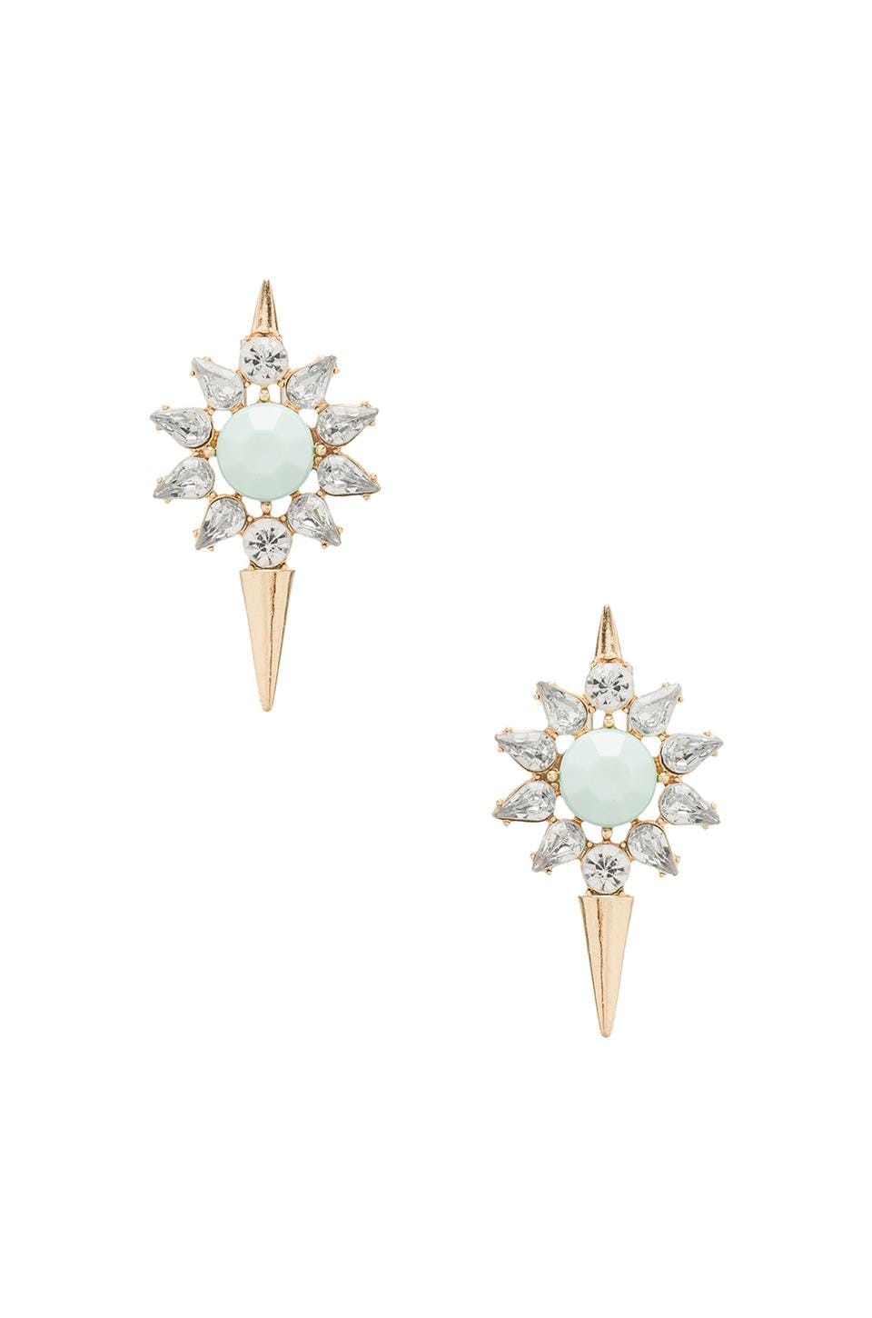 8 Other Reasons Loaded Earrings in Gold/Aqua/Clear