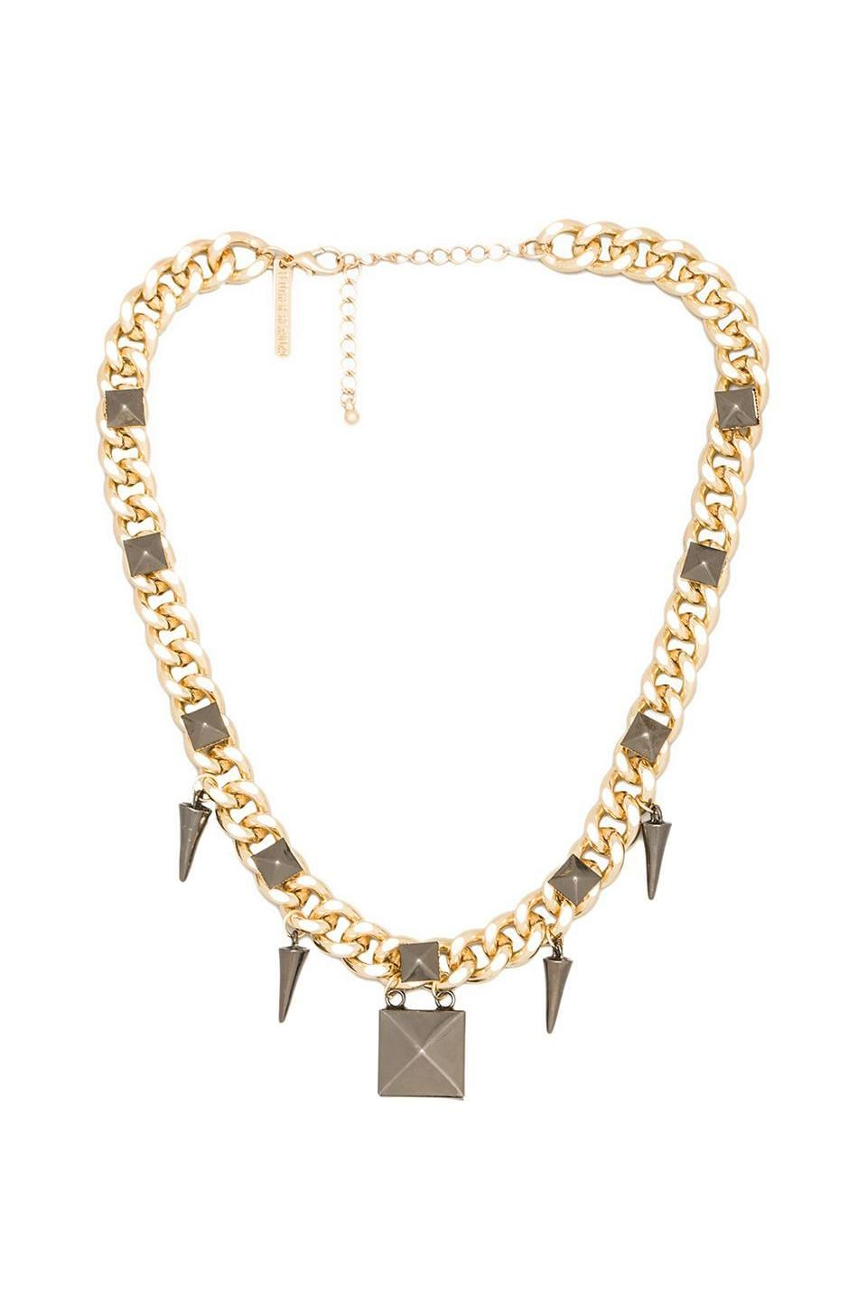 8 Other Reasons Rage Necklace in Gold/Gunmetal
