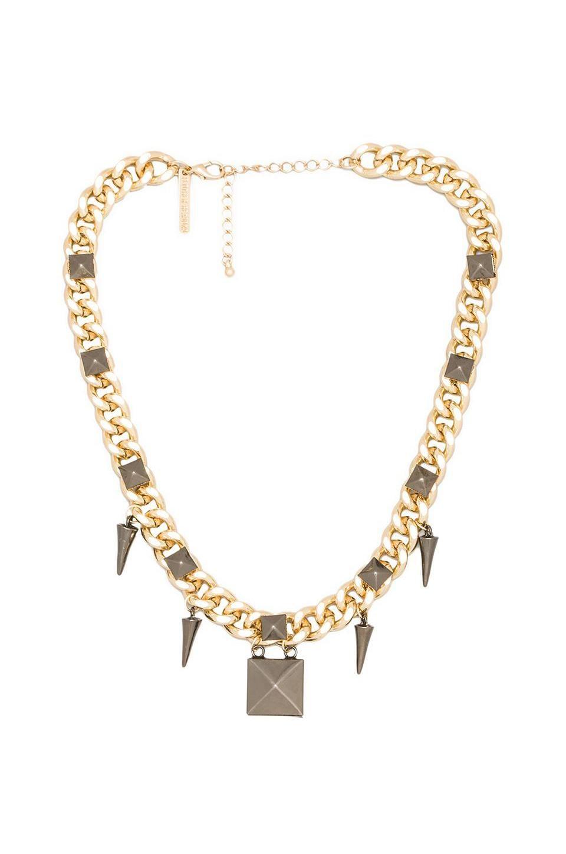 8 Other Reasons Rage Necklace en Gold/Gunmetal