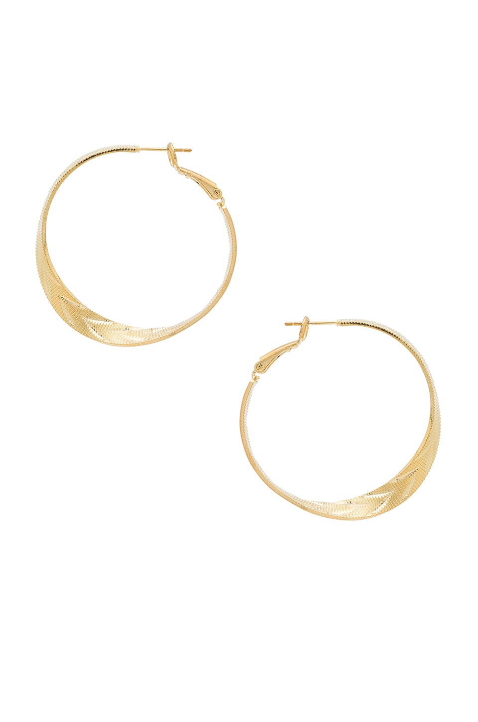 8 Other Reasons Etched Hoop Earrings in Gold