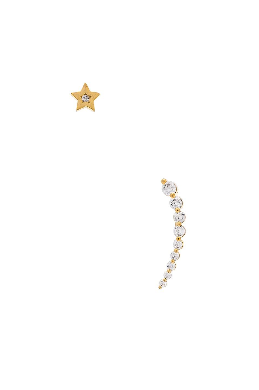 Shooting Star Crawler Earrings