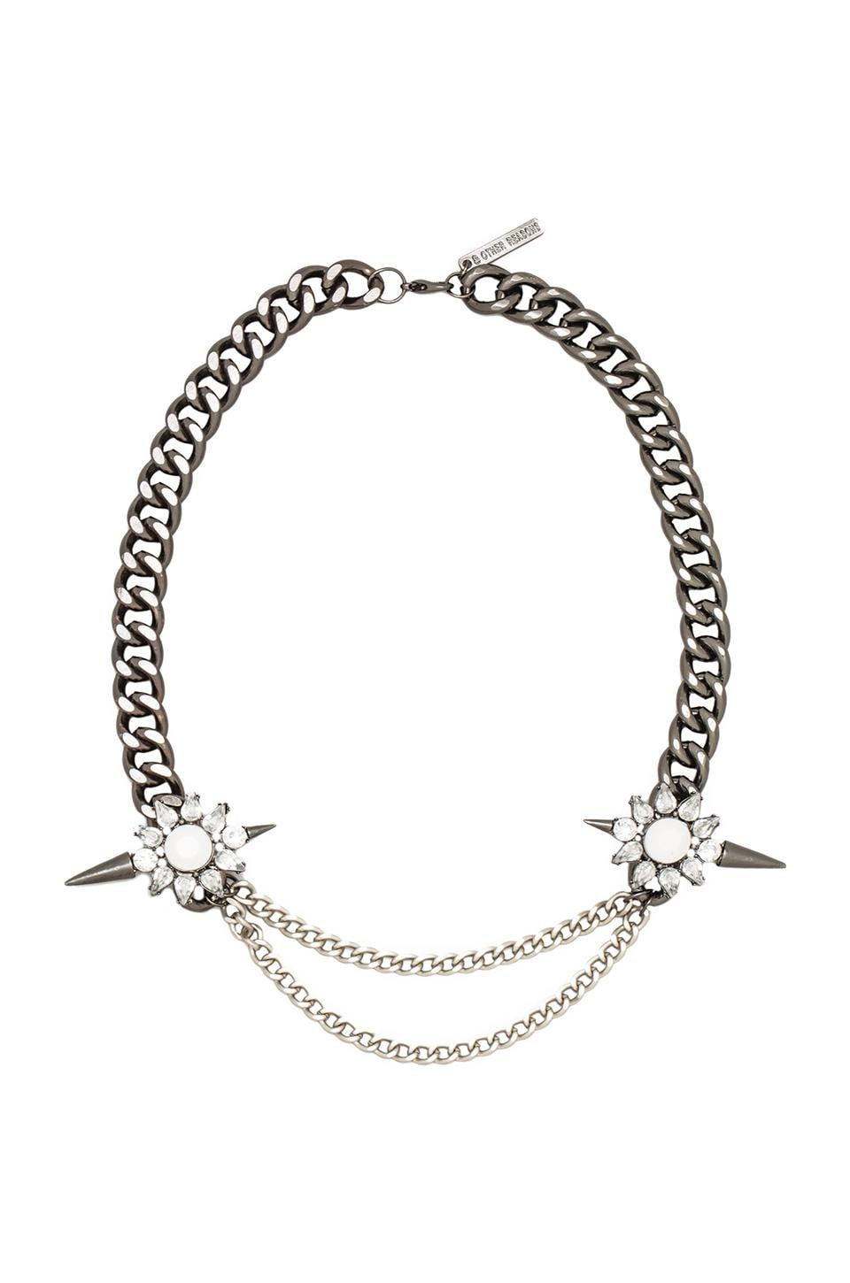 8 Other Reasons Loaded Necklace in Rhodium/Silver