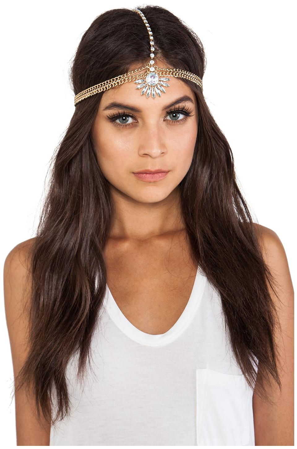 8 Other Reasons Dreamer Head Piece in Gold