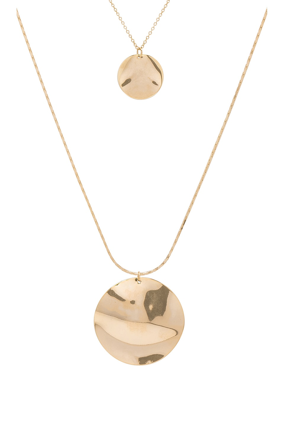 8 OTHER REASONS Athena Lariat Necklace in Metallic Gold