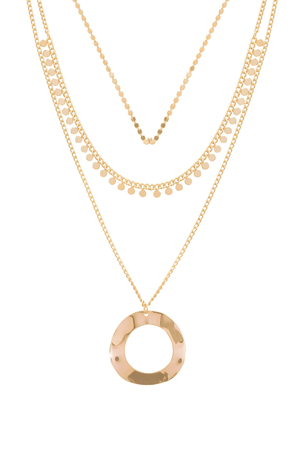8 OTHER REASONS Jax Lariat Necklace in Metallic Gold