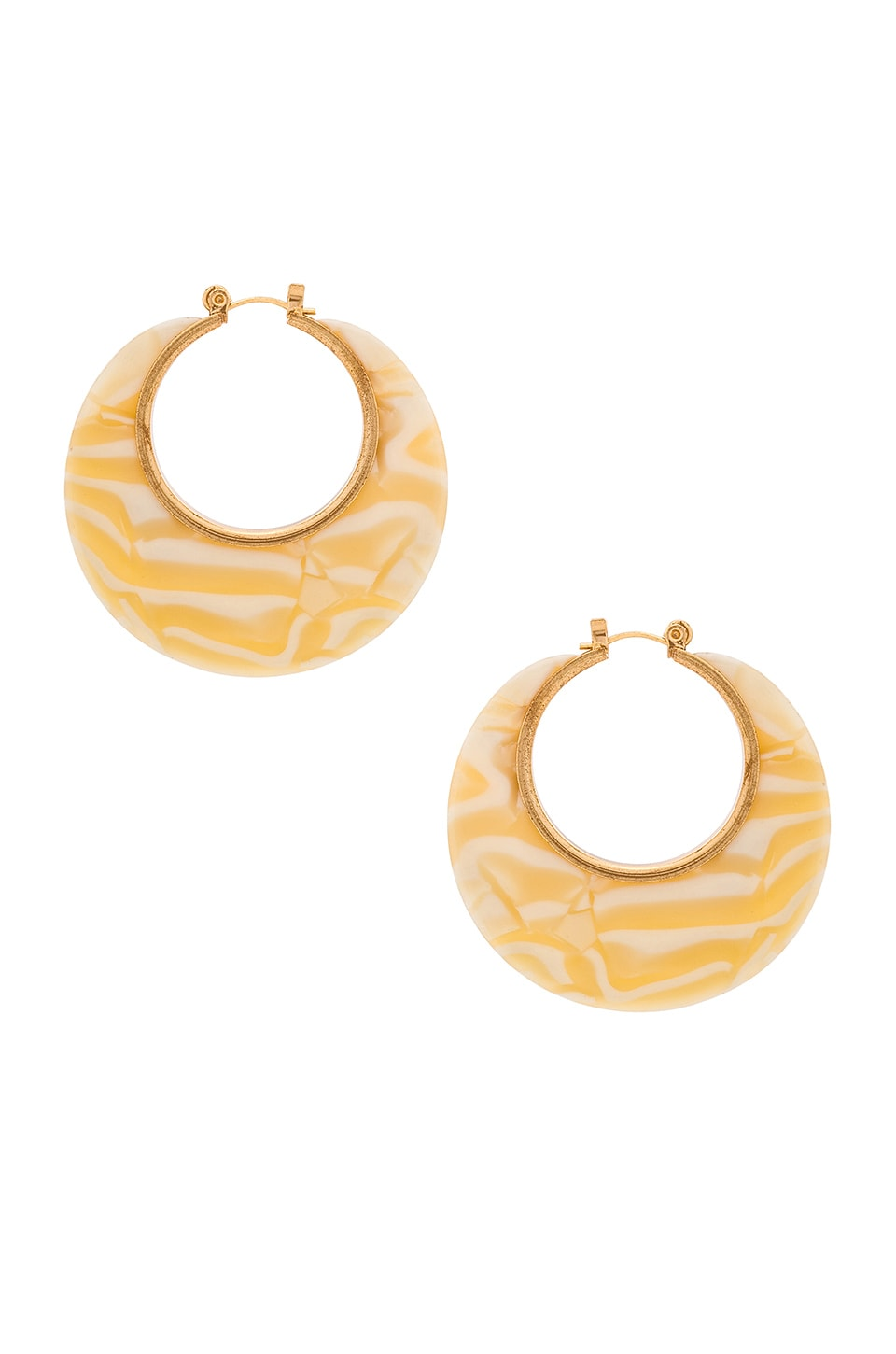 8 OTHER REASONS Maya Hoops in Ivory