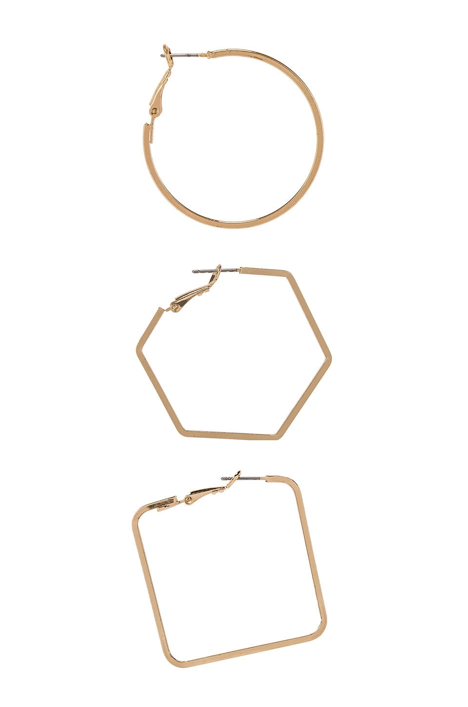 8 OTHER REASONS Amber Hoops in Gold