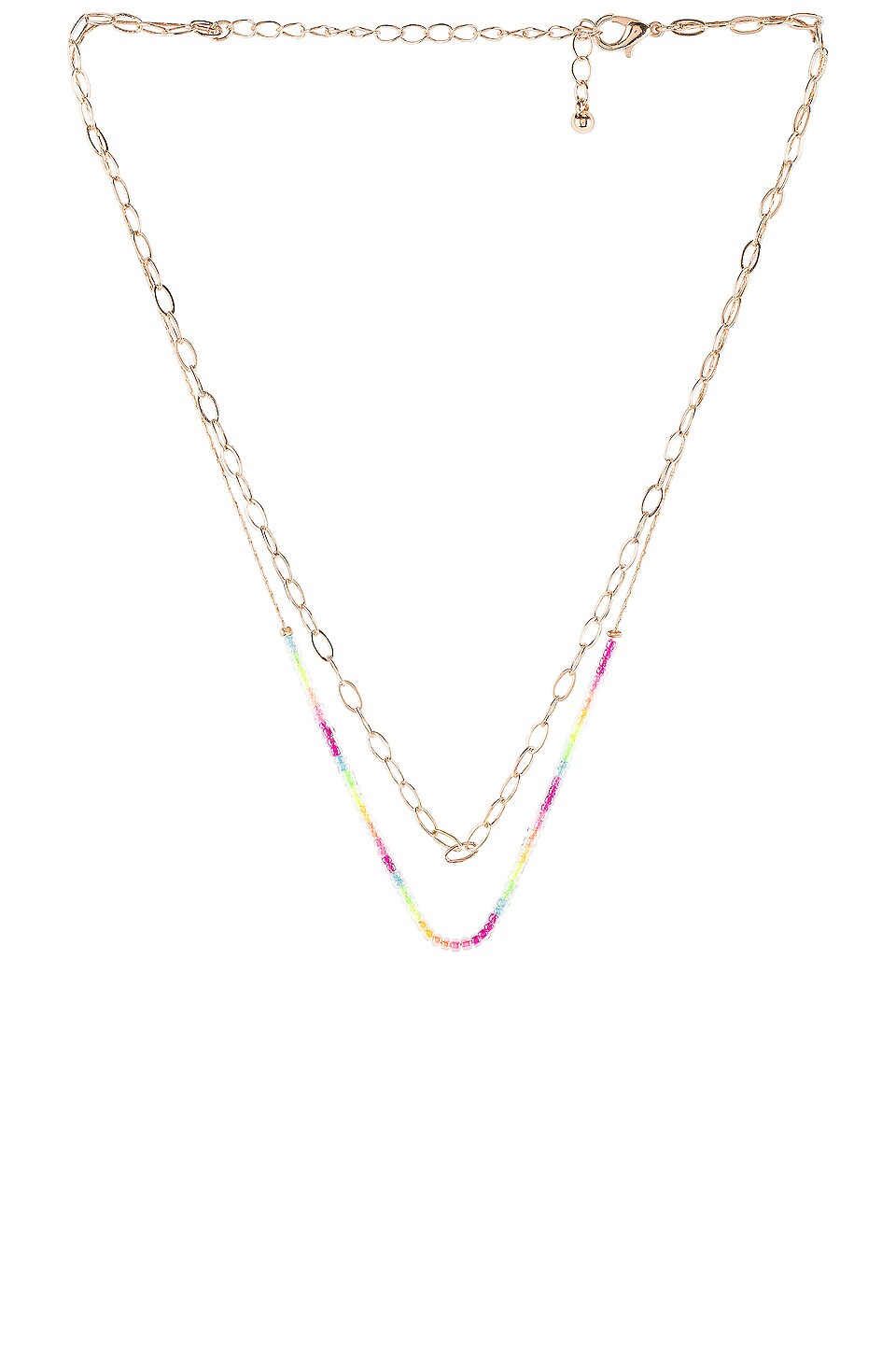8 Other Reasons Neon Layered Necklace in Gold