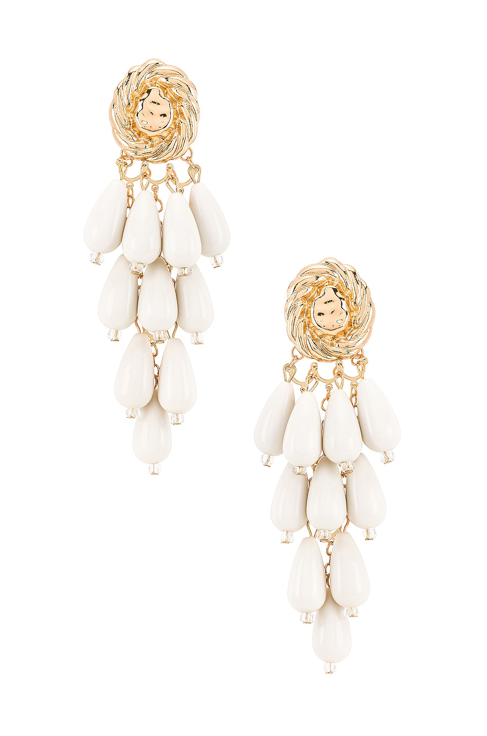 8 Other Reasons X REVOLVE Weekend Earring in Gold & Ivory