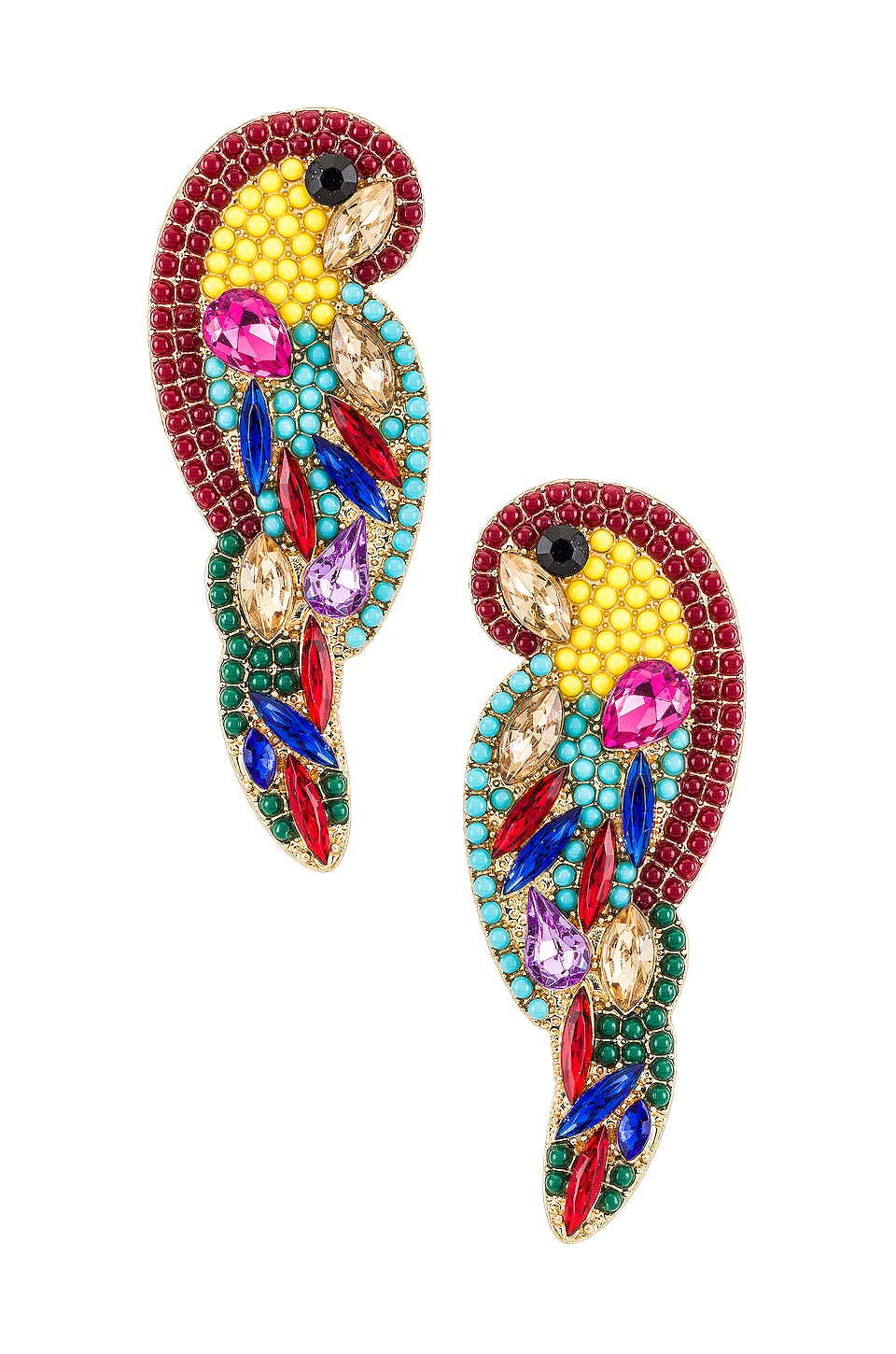 8 Other Reasons Dise Stud Earrings in Gold & Red