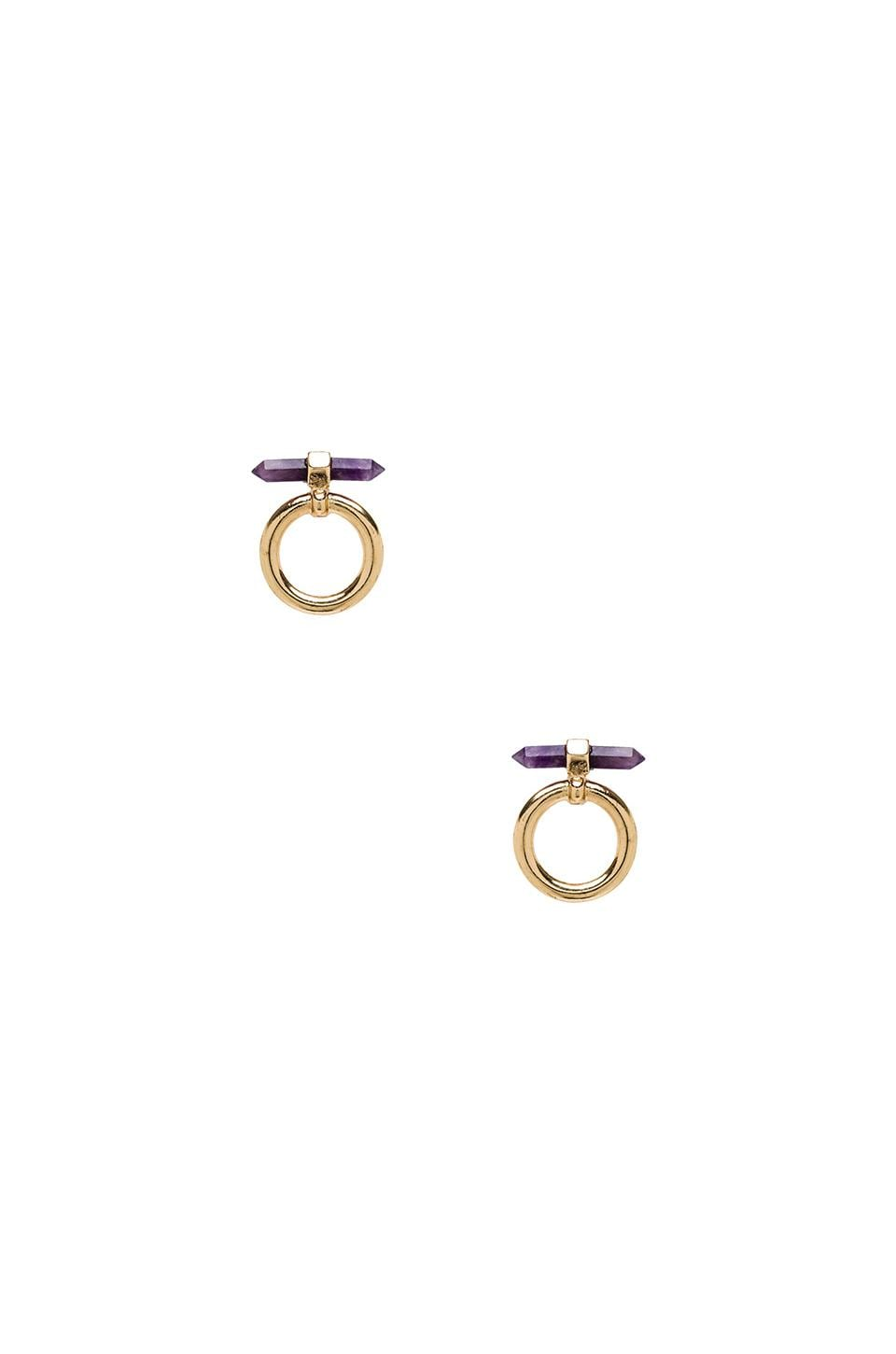 8 Other Reasons Charmed Earring in Gold & Amethyst