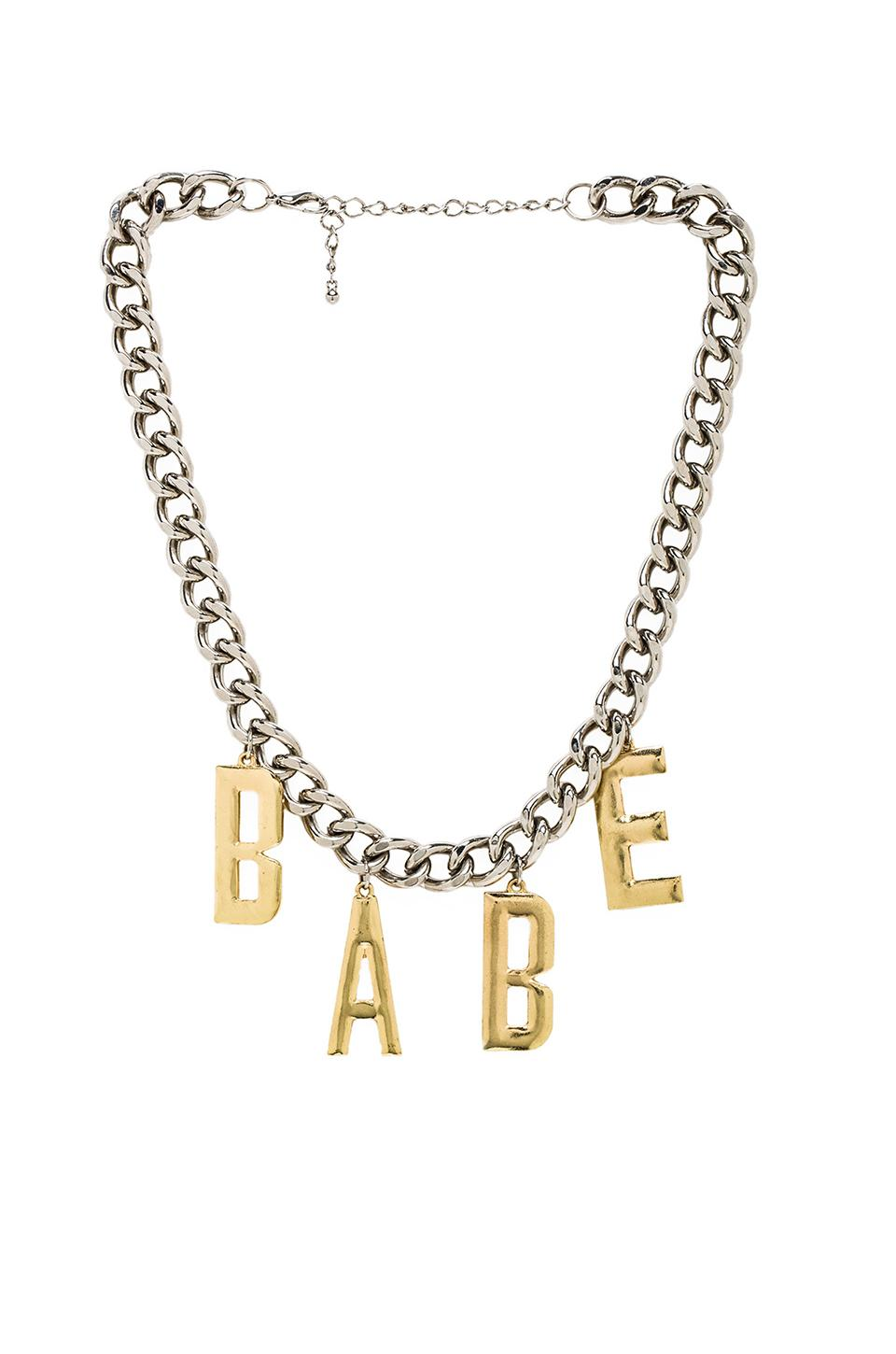 8 Other Reasons Babetown Necklace in Rhodium & Gold