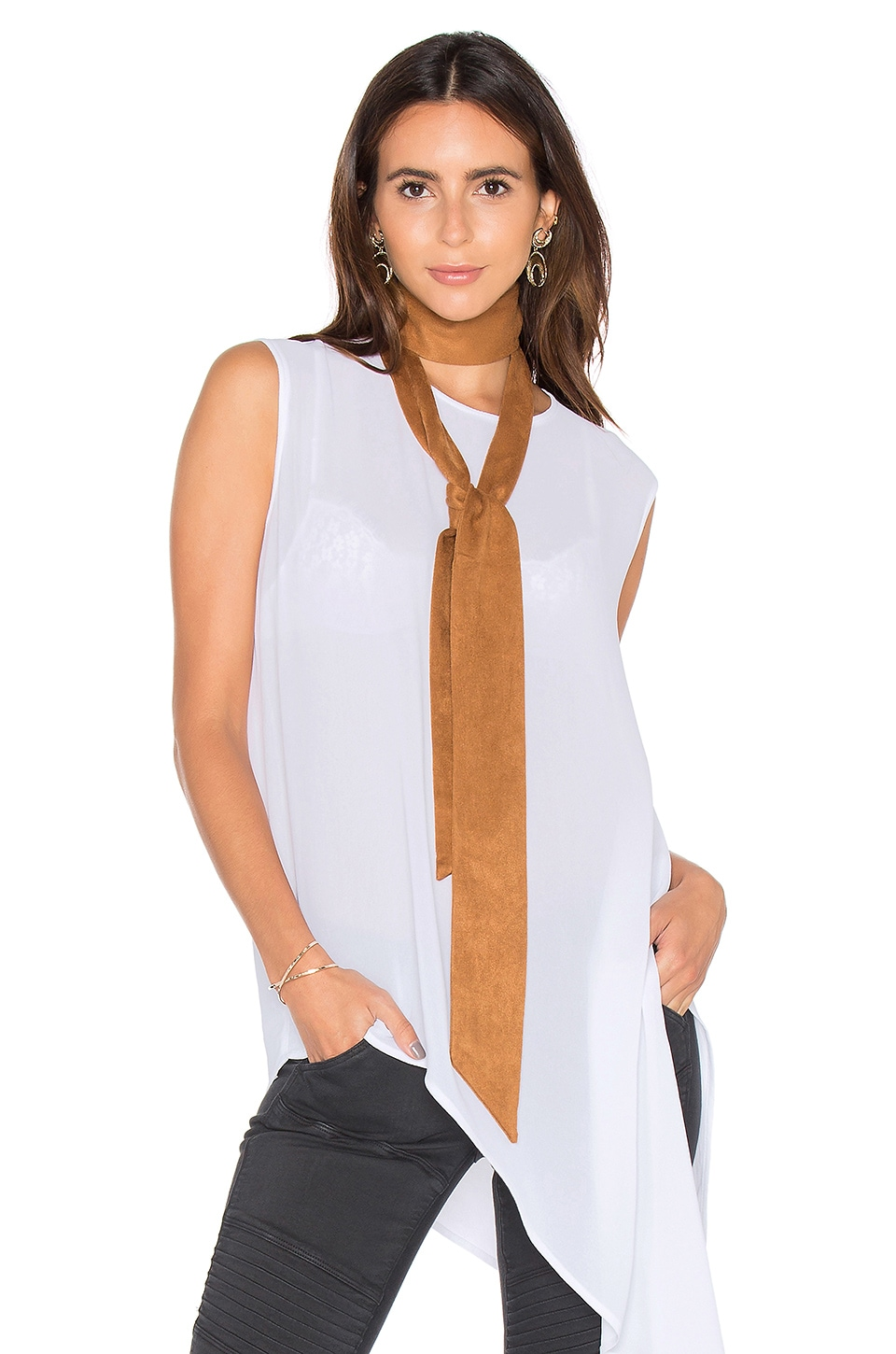 8 Other Reasons x REVOLVE Skinny Scarf in Tan