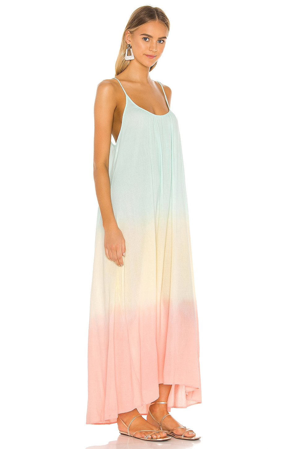 Tulum Core Cotton Maxi Dress, view 2, click to view large image.