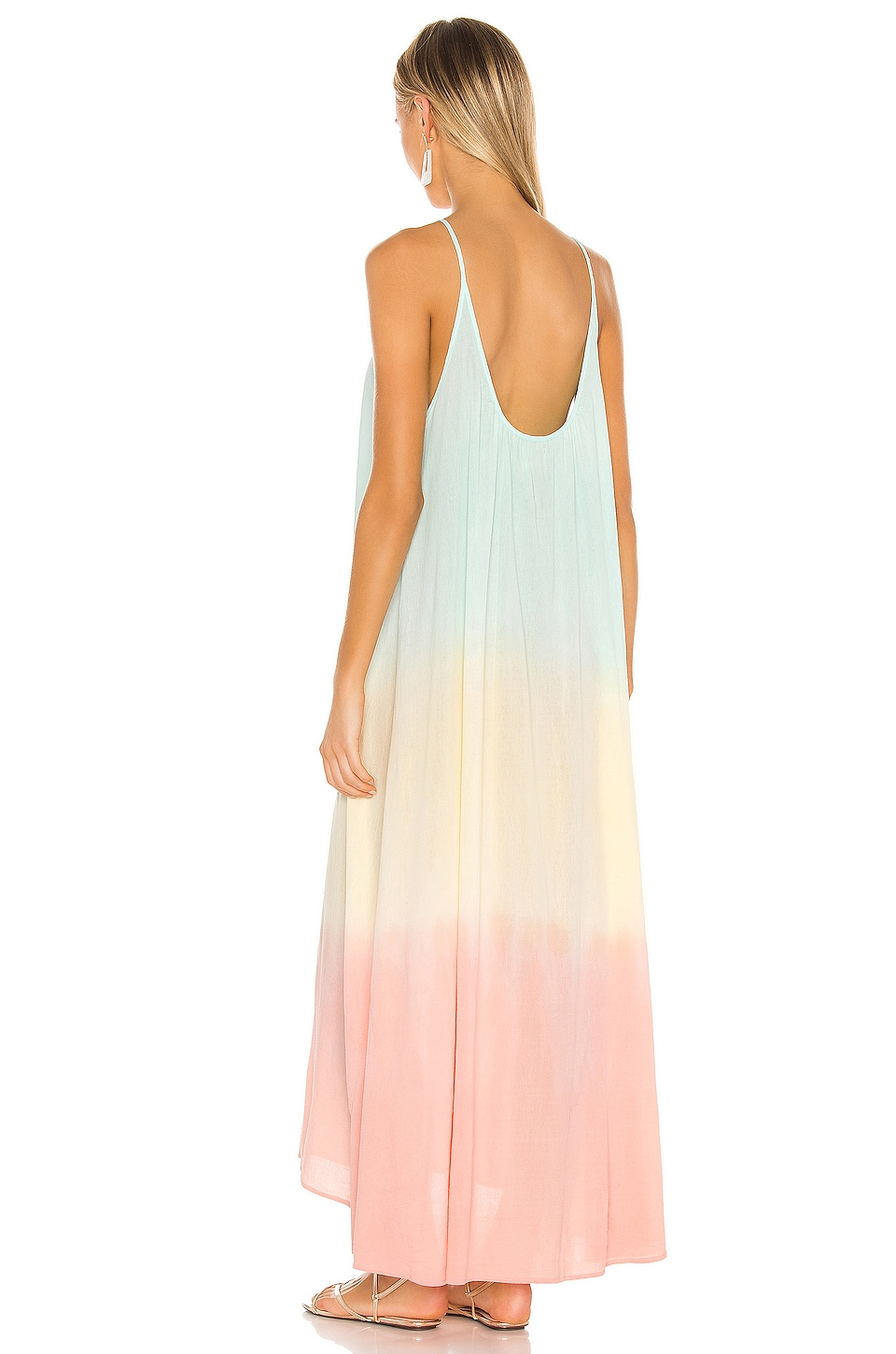 Tulum Core Cotton Maxi Dress, view 3, click to view large image.