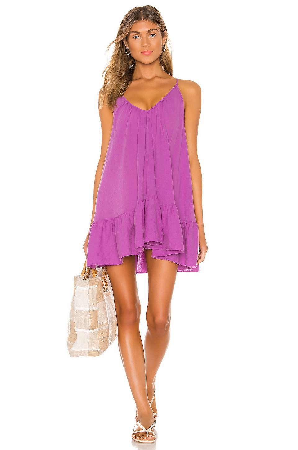 9 Seed St Tropez Ruffle Mini Dress in Petal