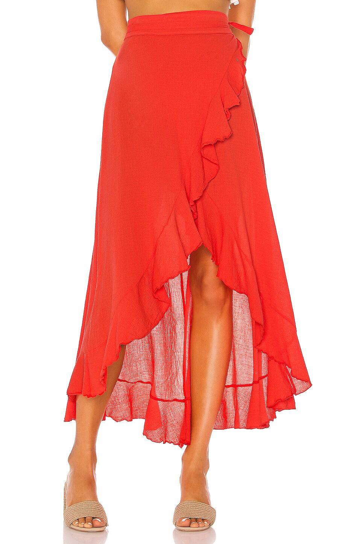 9 Seed Solana Wrap Skirt in Dahlia