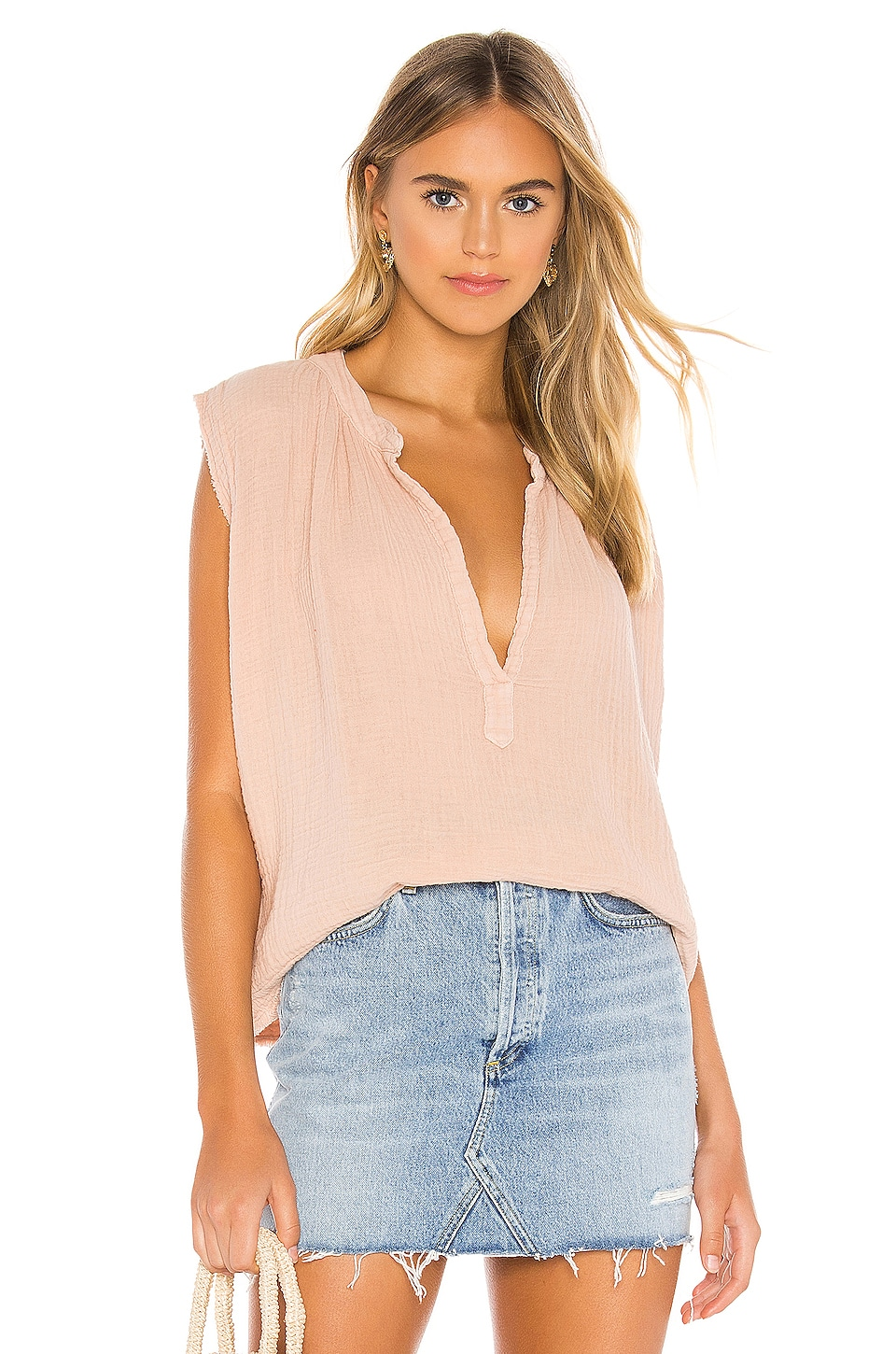9 Seed Idyllwild Sleeveless Top in Dusty Rose