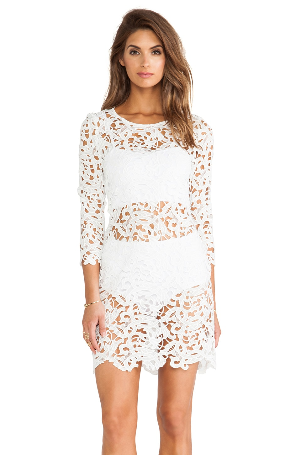 Assali Chloe Dress in White
