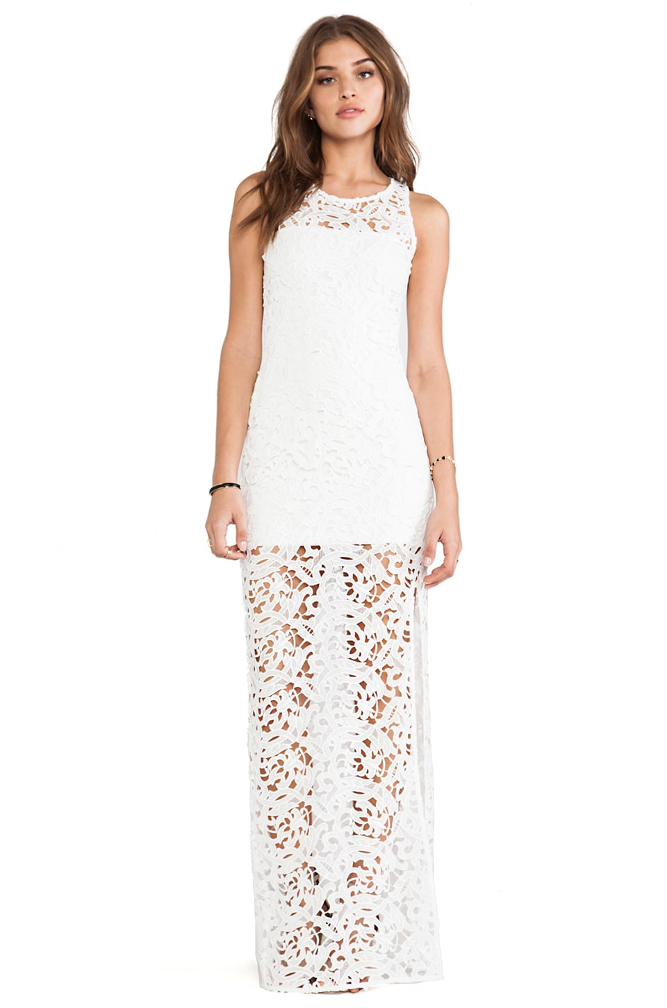Assali Gala Lace Dress in White