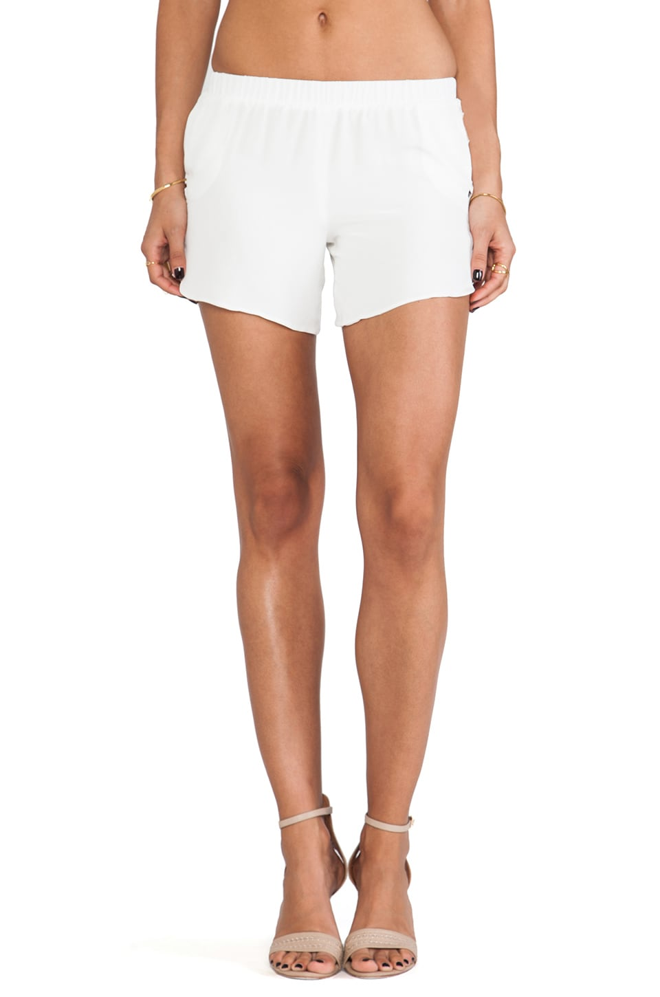 Assali Capra Shorts in White