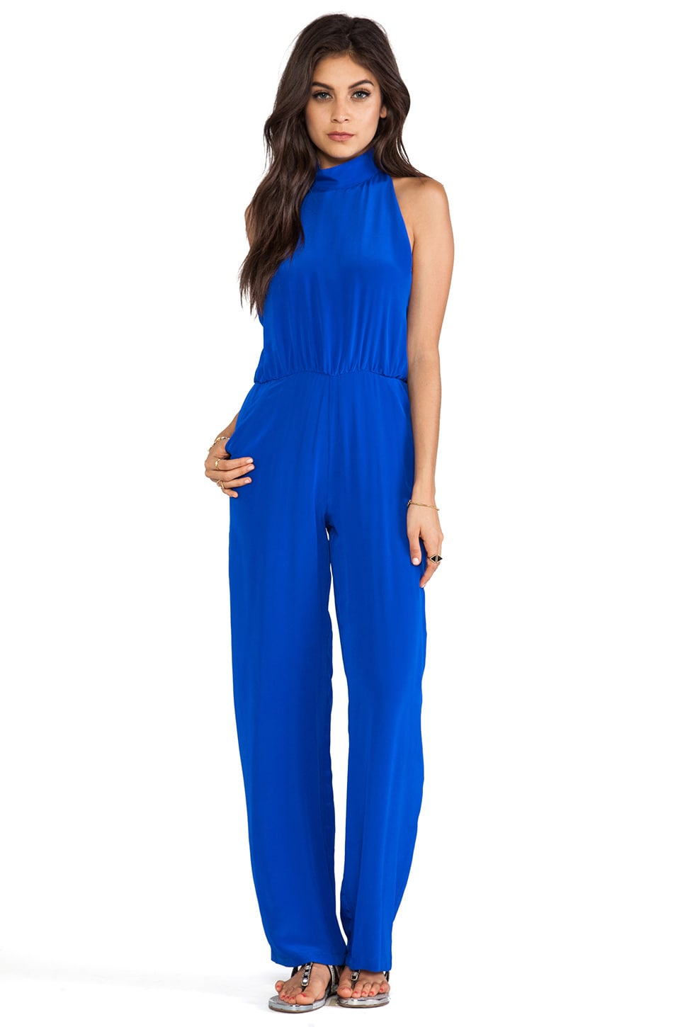 Assali Augusta Jumpsuit in Cobalt Blue