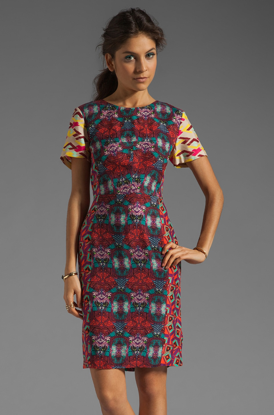 Antik Batik Aron Pencil Dress in Fuchsia