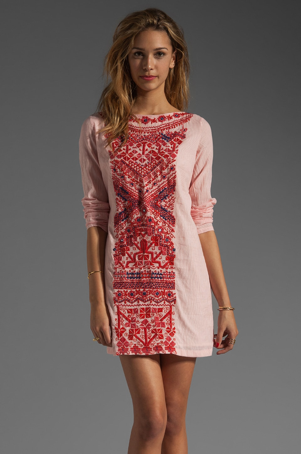 Antik Batik Kazam Mini Dress in Red