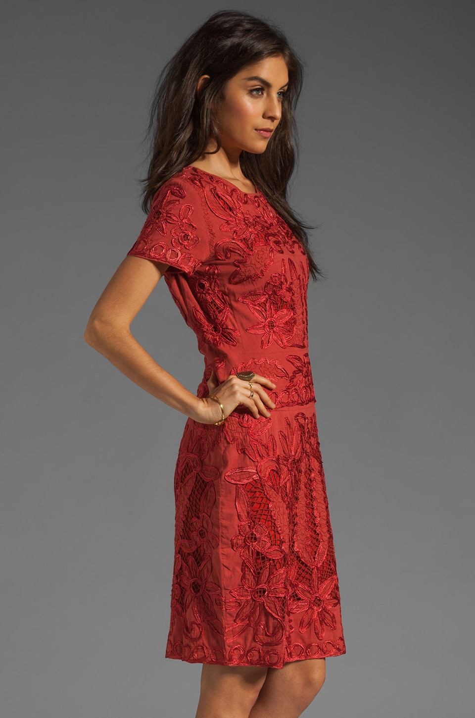 Antik Batik Baila Dress in Coral