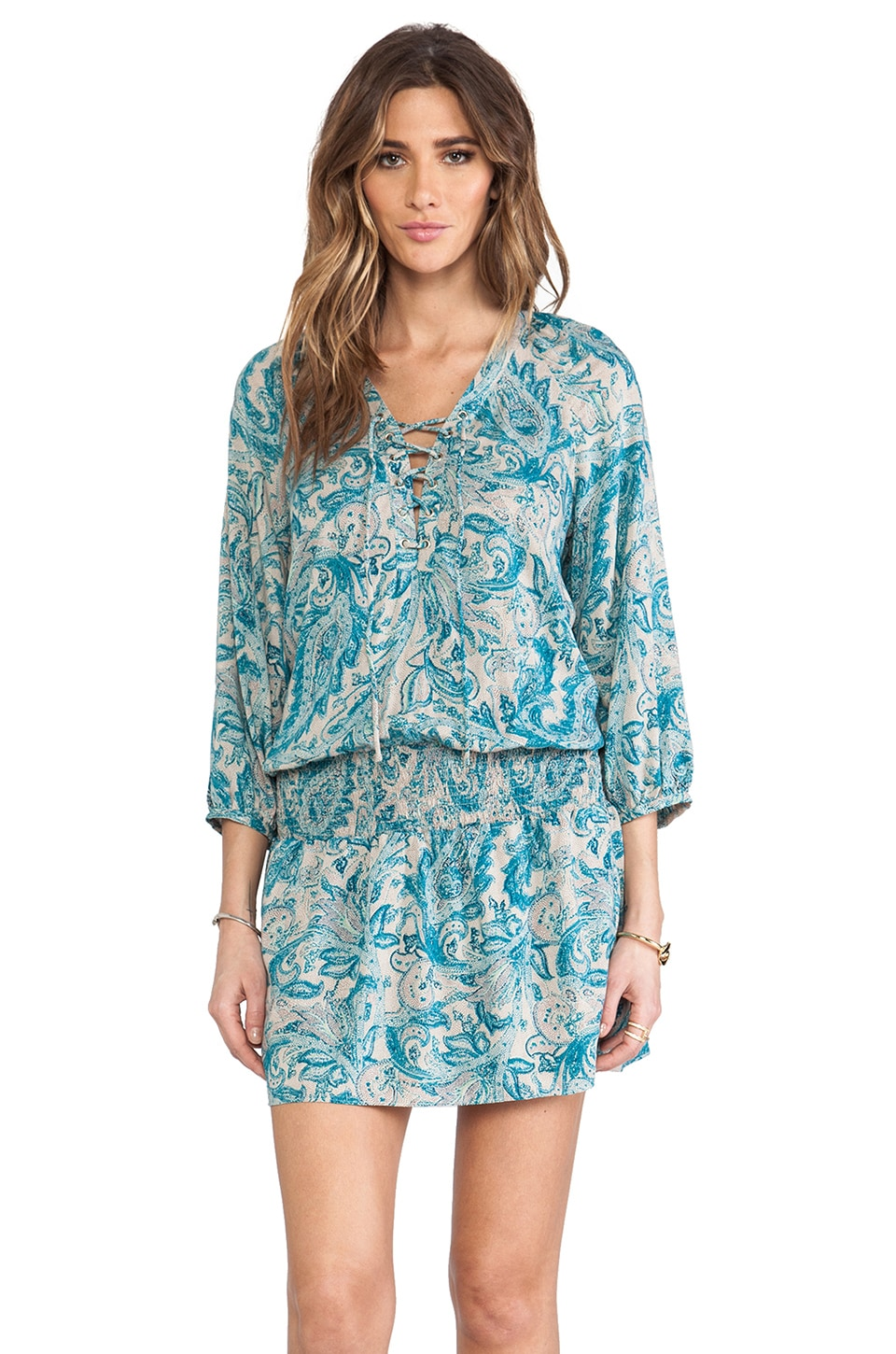 Antik Batik Elliott Mini Dress in Blue