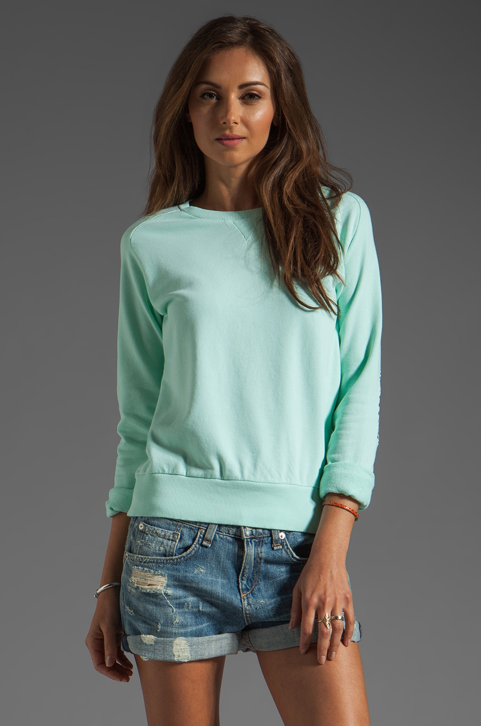 Antik Batik Johnny Sweatshirt in Aqua