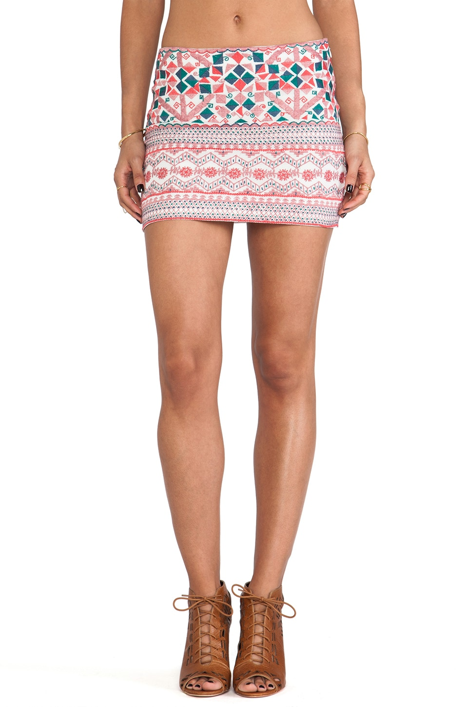 Antik Batik Careyes Mini Skirt in Cream