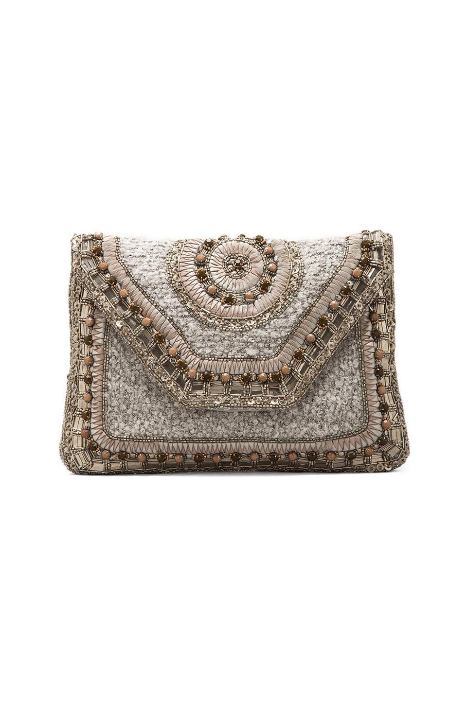 Antik Batik Davka Clutch in Grey