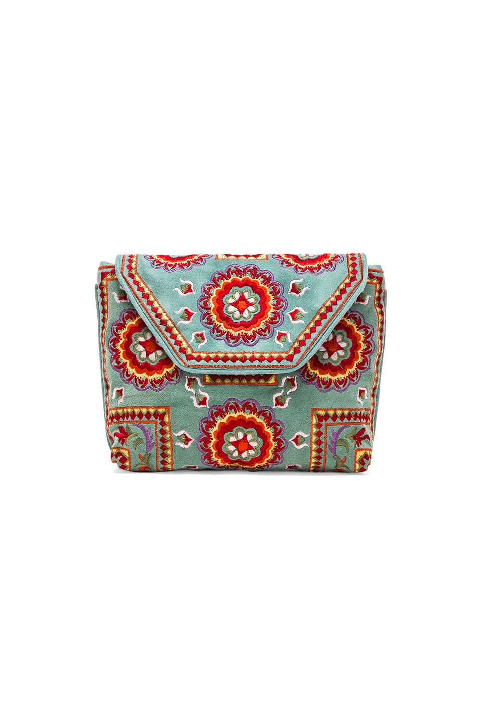 Antik Batik Brada Clutch in Turquoise