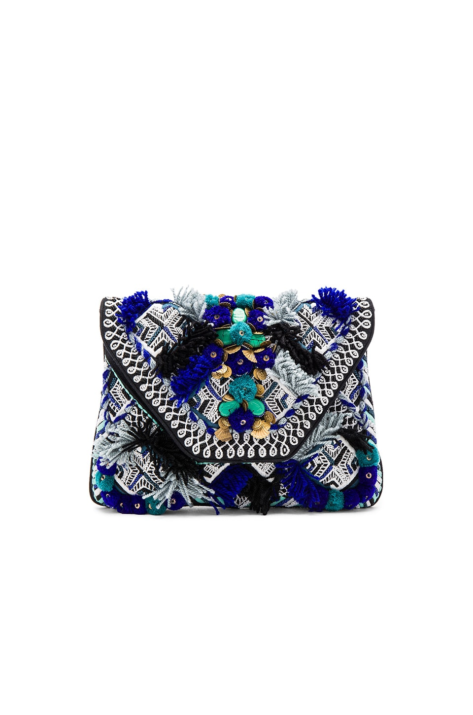 Antik Batik Kilan Wallet in Blue