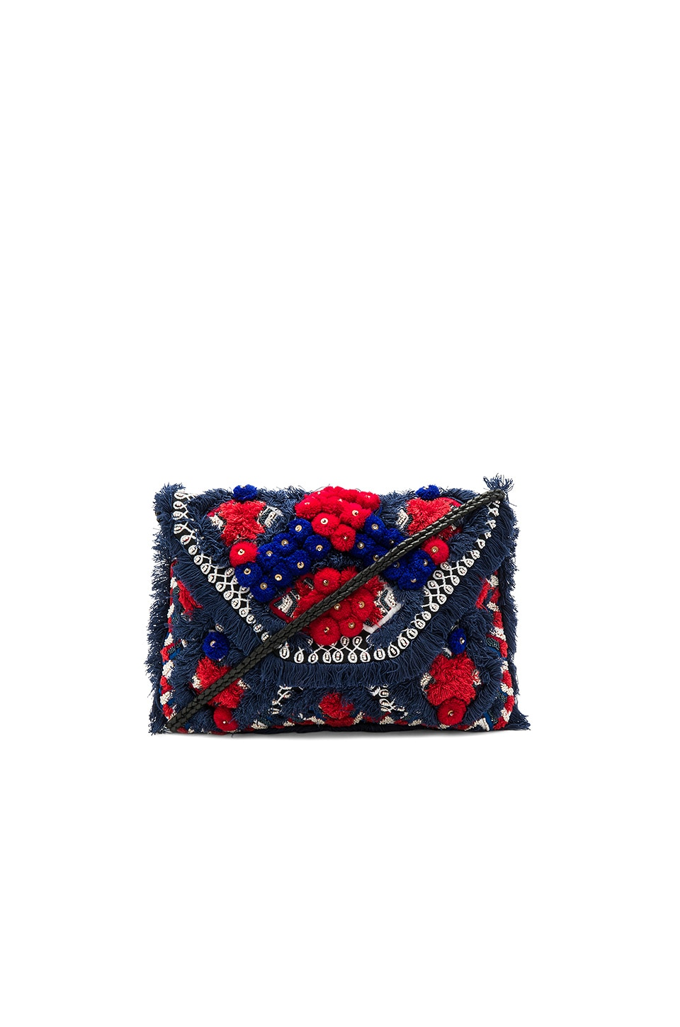 Antik Batik Sunny Wallet in Red & Black