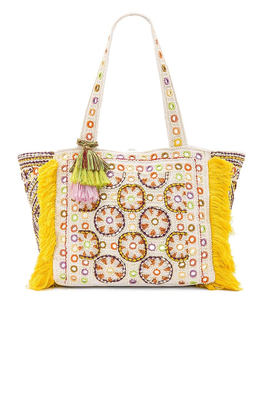 Antik Batik Kinocabas Tote Bag in Cream & Yellow