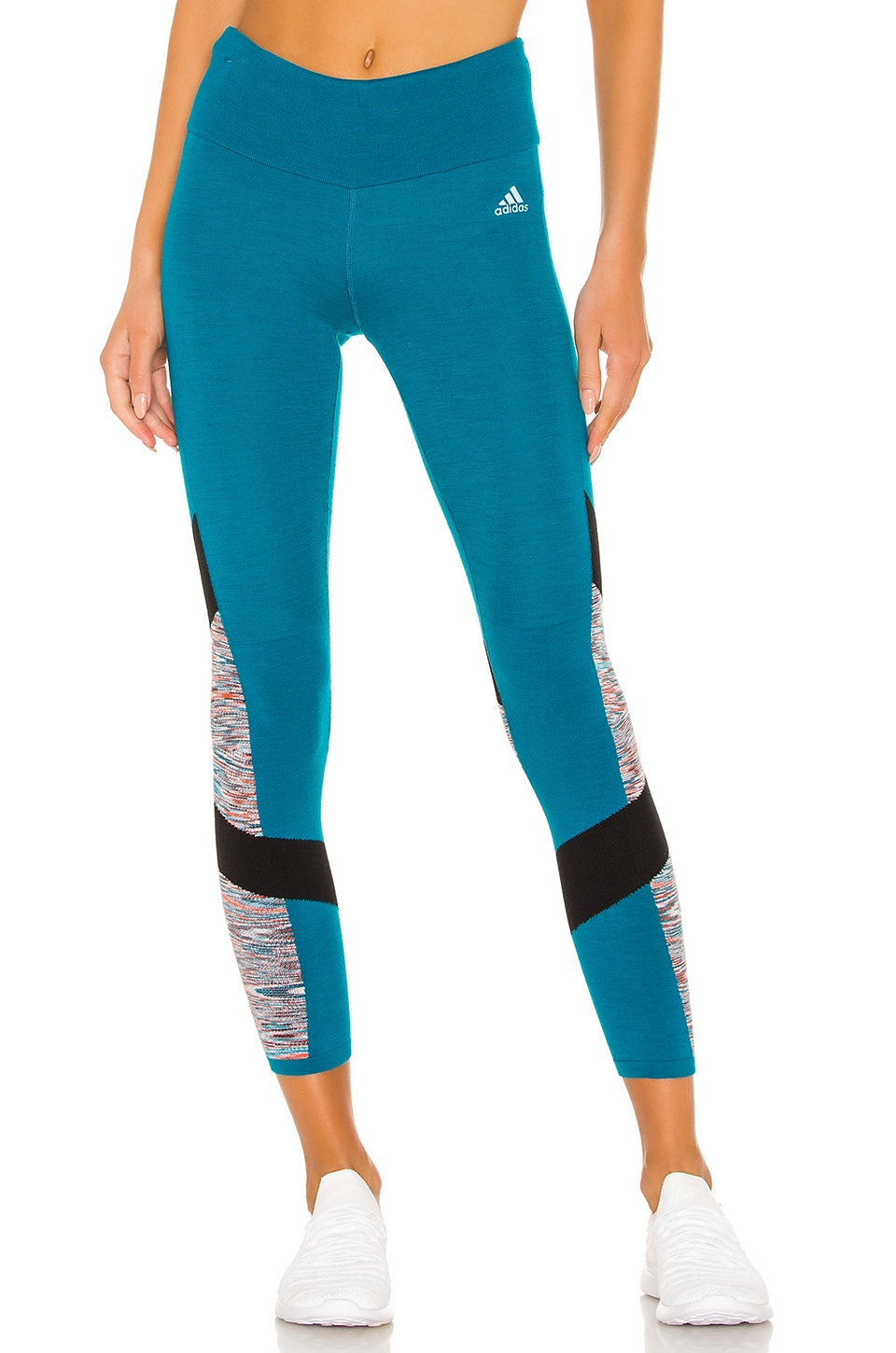 adidas by MISSONI How We Do Tight in Active Teal, Black & Active Orange