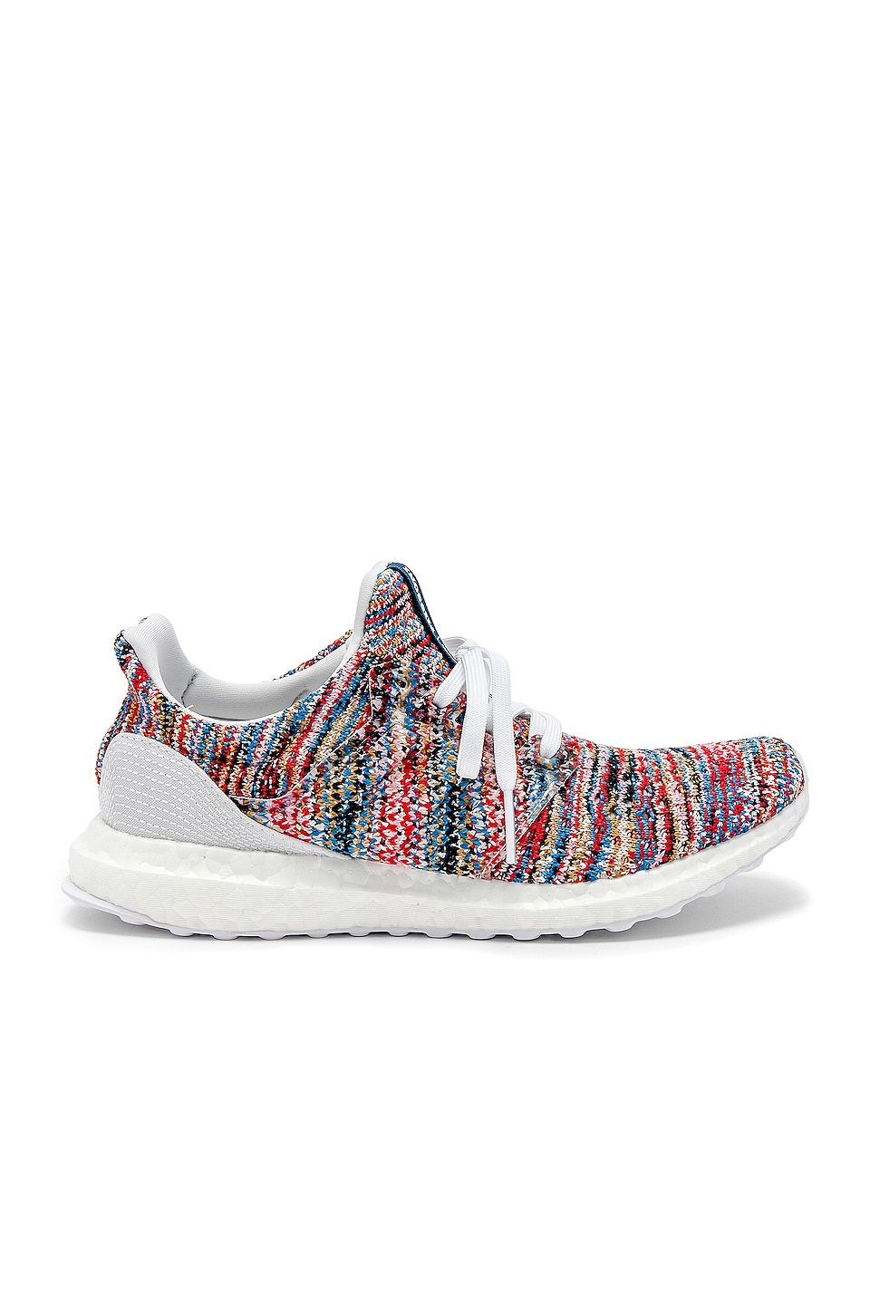 adidas by MISSONI Ultraboost Clima Sneaker in White & Cyan & Active Red