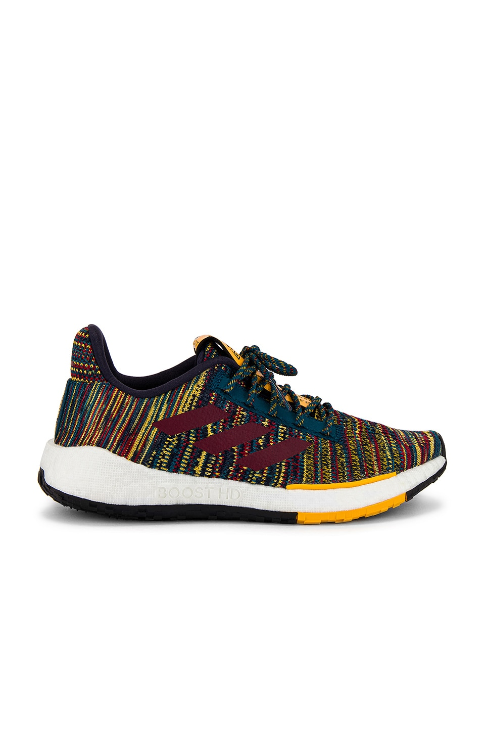 adidas by MISSONI Pulseboost HD Sneaker in Tech Mineral, Collegiate Burgundy & Active Gold