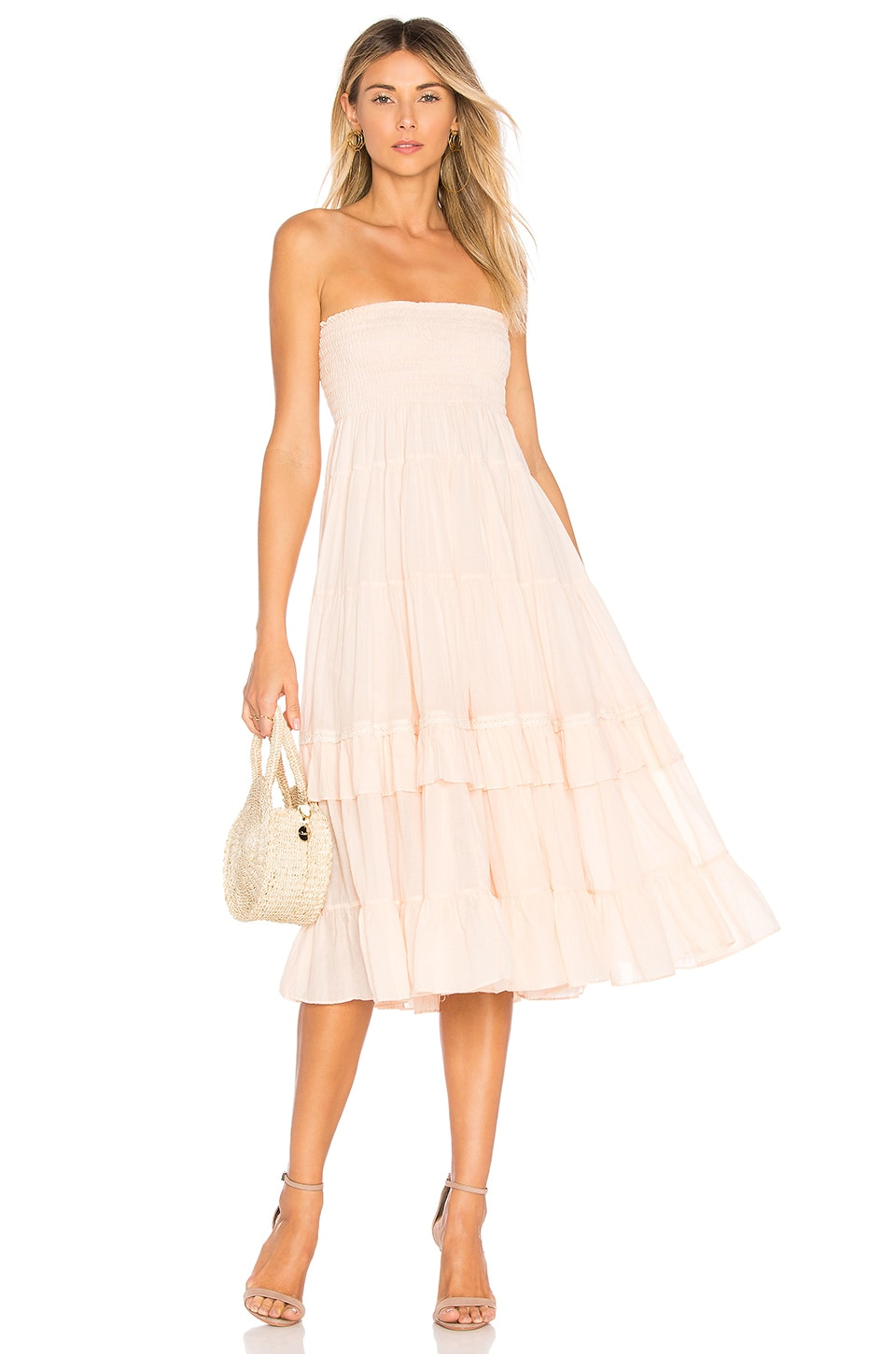 AMANDA BOND Sophie Convertible Dress in Peach
