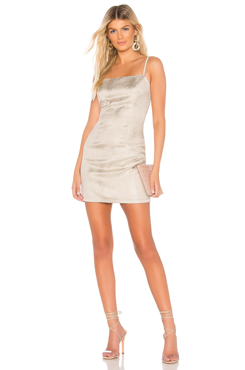 About Us Ashley Mini Dress in Gold Multi