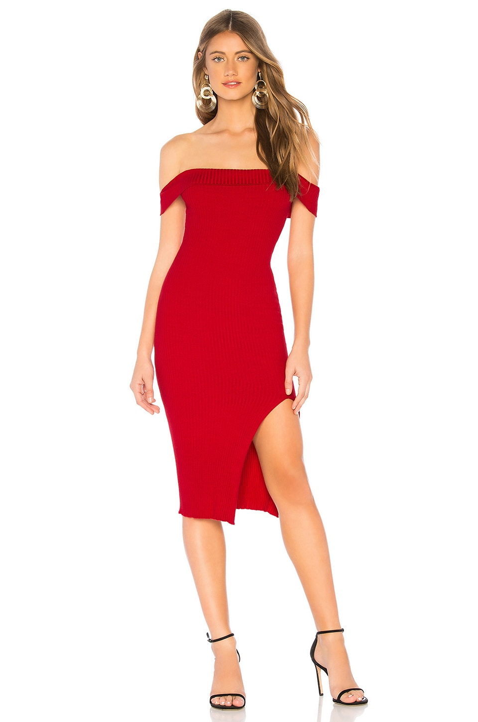 ABOUT US Delia Knit Dress, Red